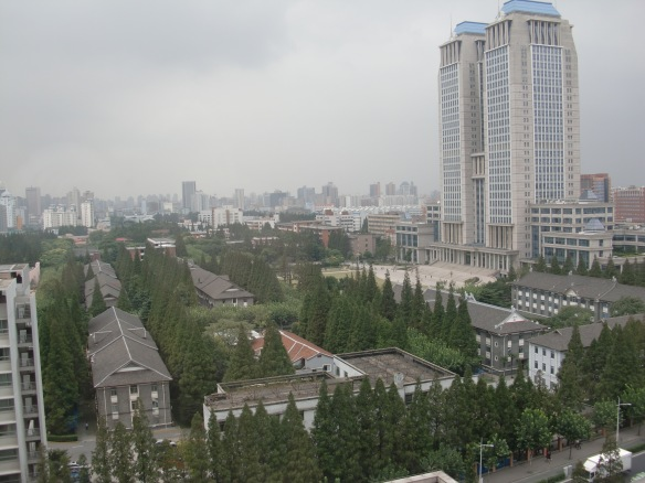 View of Fudan U from Fuxuan Hotel