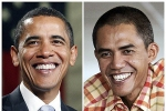 Barack and his Indonesia impersonator, Ilham Anas