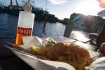 Fish & Chips on the pier. Freemantle Pier, Perth, Australia